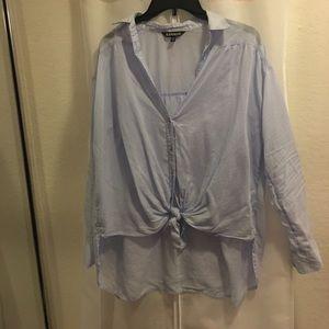 Express Blue Long sleeve Blouse